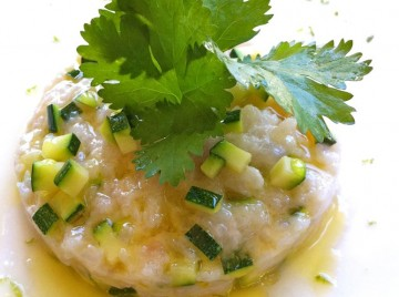 Tartare di pescespada con lemongrass, ginger e lime2